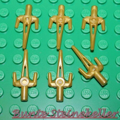 unbespielt Messer SB01-04 6 Stück Ninja Gabel-Dolche Weapon in pearl gold