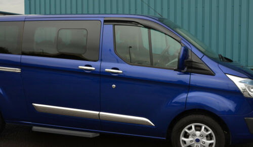 Chrome Door Handle Trim Set Covers To Fit Ford Tourneo Custom 4dr 2012+