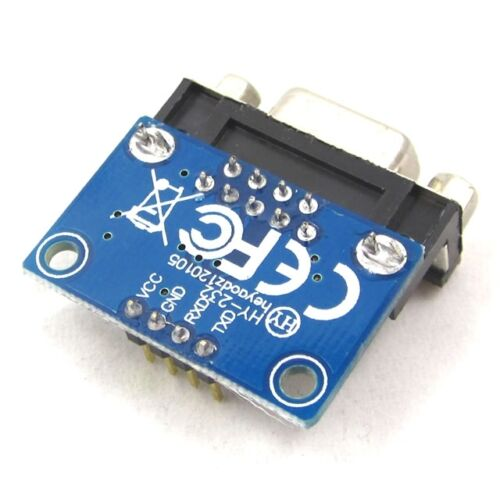 RS232 To TTL Converter Module Serial Module DB9 Connector 3.3V-5.5V Arduino fp