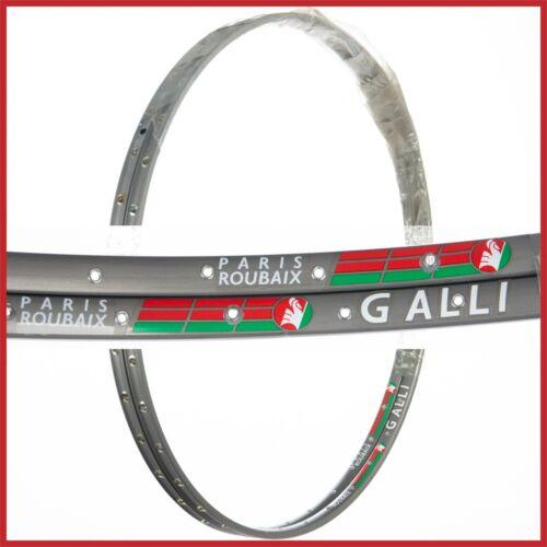 NOS PAIR GALLI PARIS ROUBAIX RIMS RED LABEL TUBULAR VINTAGE 36H ROAD RACING BIKE
