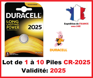 Set-de-1-a-10-Pile-CR-2025-DL-2025-DURACELL-boton-Litio-3V-DLC-2025