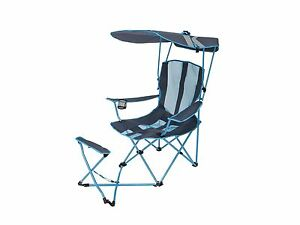 Kelsyus Original Canopy Chair With Ottoman Light Blue