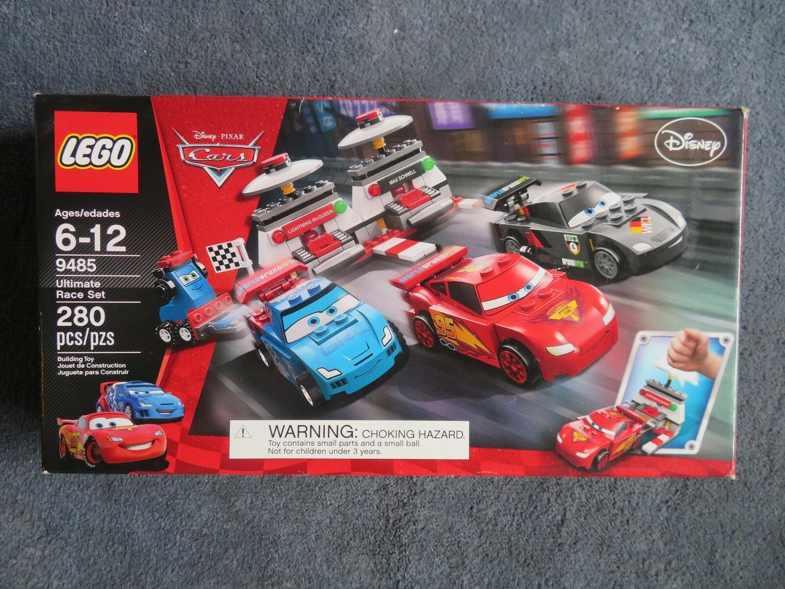 Lego Ultimate Race Set- 9485 COMPLETE w instructions & box-only 1 bag was opened
