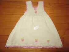 NWT $46 Empress Baby Organic Cotton Hand Knitted Dress Size 2T