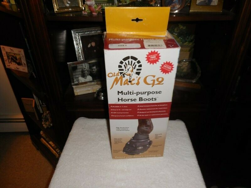 NIB OLD MACS G2 Multipurpose Hoof Stiefel For Horses Größe 6 Easy Stiefel Alternative