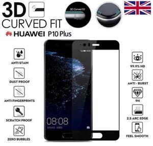 DéSintéRessé Pour Huawei P10 Genuine 3d Complet En Verre Trempé 9 H Protecteur D'écran Cover Noir-afficher Le Titre D'origine