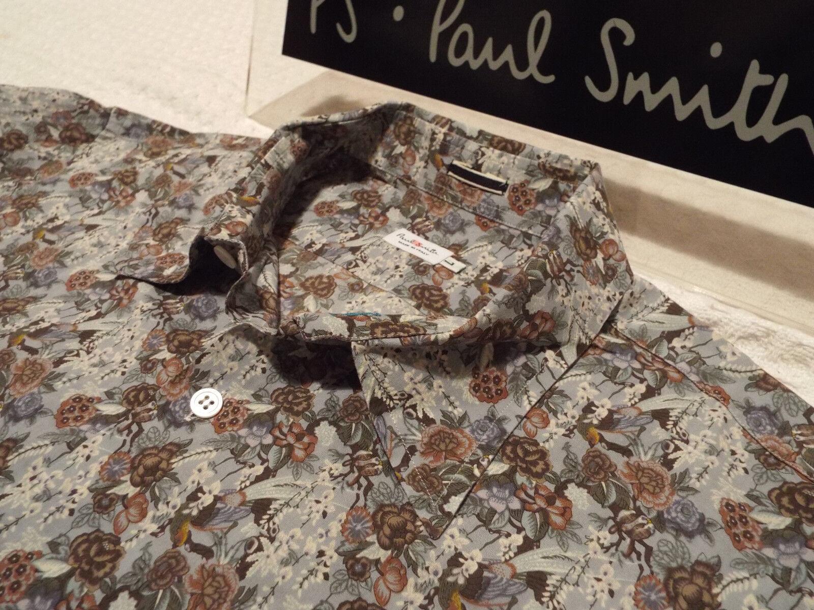 PAUL SMITH Mens MAINLINE Shirt  Size L (CHEST 44 )  RRP + FLORAL STYLE