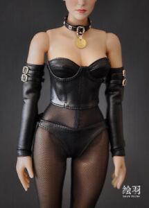 1-6-Black-Tight-Corsage-Set-Female-Clothing-F-12-039-039-tbleague-phicen-JODOLL-Figure