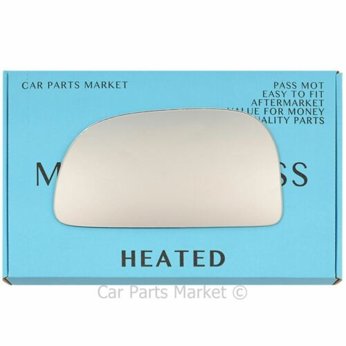 Left passenger side Flat Wing mirror glass for Mitsubishi Colt 1992-2003 Heated