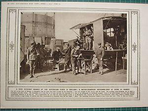 1915 Première Guerre Mondiale G.mondiale 1 Imprimé ~ Australien Force En 3qznwcmb-08002442-565109937