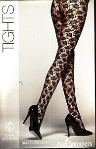 7b975c2b7fe57 Image is loading ANN-SUMMERS-Open-Lace-TIGHTS-Black-SIZE-Small-