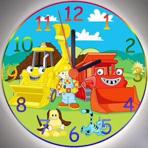 Details zu Wanduhr - Uhr für das Kinderzimmer - Motiv - Bob der Baumeister  - Kinderuhr