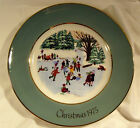 Wedgwood for Avon Skaters on the Pond Christmas Collectors Plate from 1975