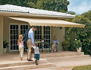 Sunsetter Motorized Retractable Awning 16 X 10 Ft Outdoor Deck