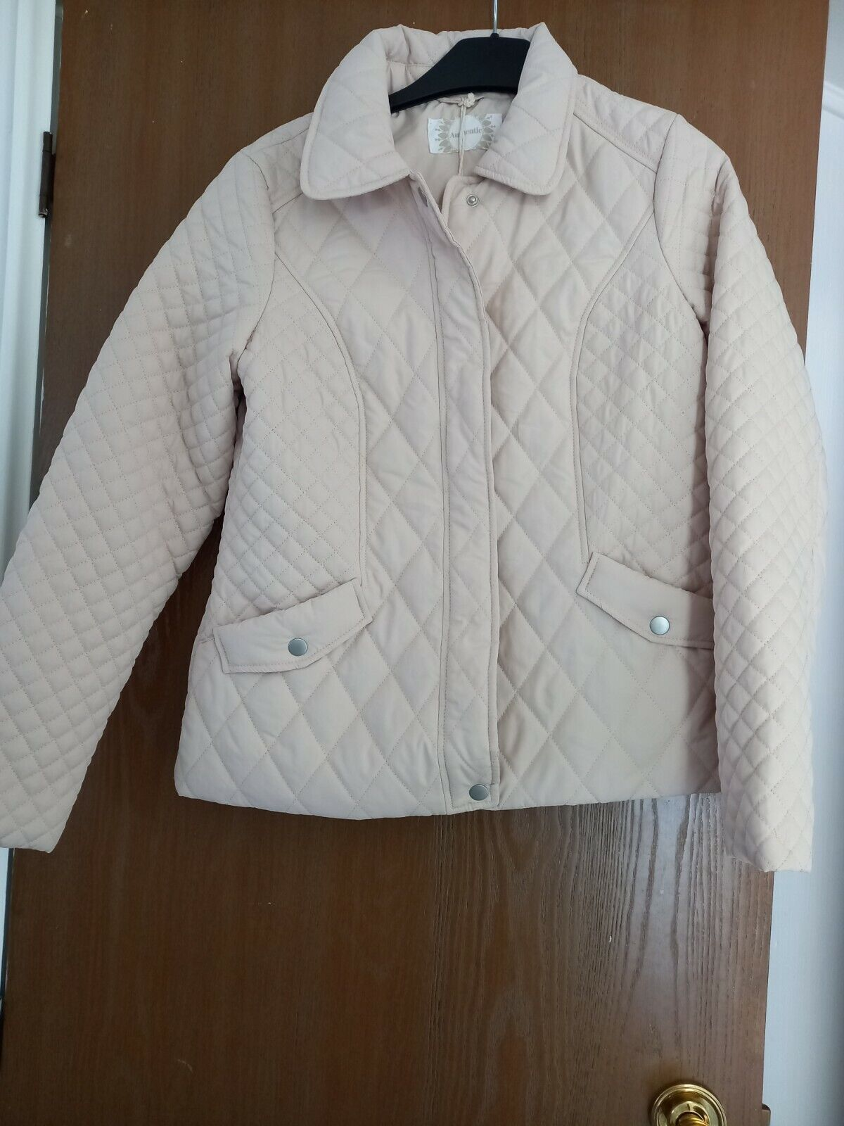 BHS Authentic Ladies Stone Lightweight Quilted Jacket - Size 10 NEW with tag