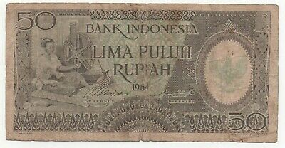 INDONESIA 50 RUPIAH 1964 P 96 XF//AU