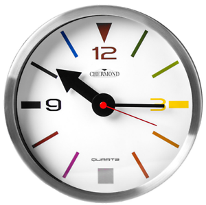 Small-wall-clock-CHERMOND-metal-case-white-dial-20-cm