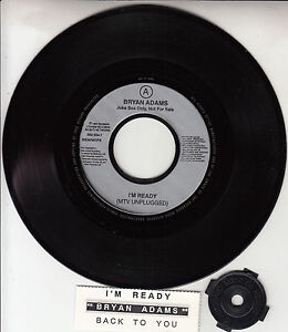 BRYAN-ADAMS-I-039-m-Ready-amp-Back-To-You-7-034-45-rpm-record-juke-box-strip-RARE