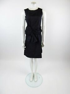 Chloe-Black-Silk-Bow-Front-Sleeveless-Dress-Size-38-UK-8