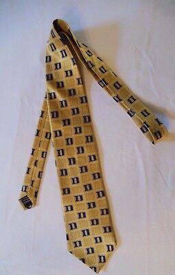 """DUKE University Necktie Men's DUKE Neck Tie Blue Devil 100% Silk 58"""" Long"""