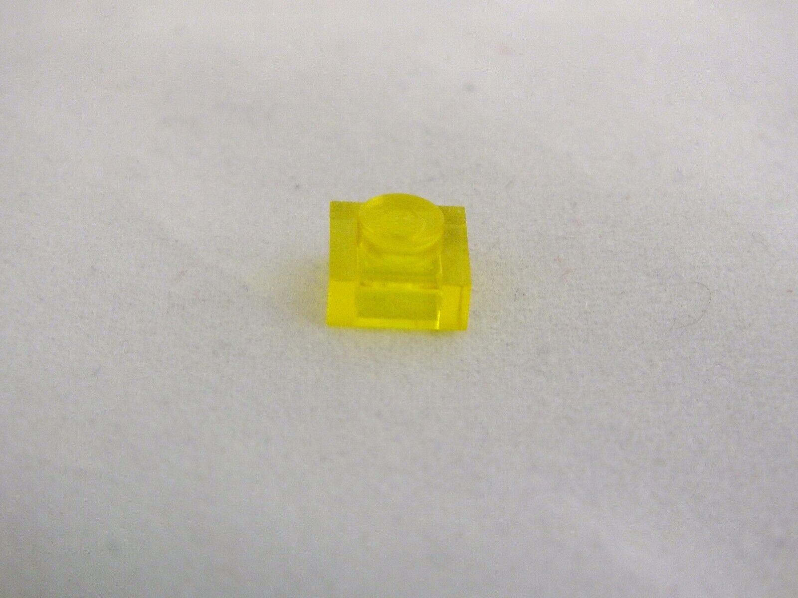 Lego 1X1 jaune transparent plaque brique neuf jamais utilisé 1750 PIECES