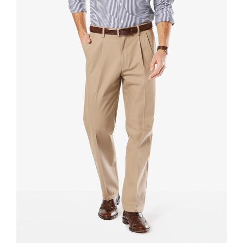 Dockers Men/'s Signature Khaki Classic Fit Pants Pleated D3 NWT 19