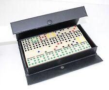 Gambling Dominoes Double 9 Color Dot In Snap Vinyl Case~USA Seller