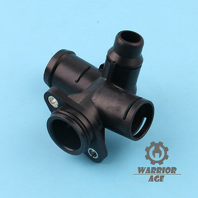 For Audi A4 QUATTRO S4 02-08 Thermostat Coolant Water Outlet Flange w.Gasket