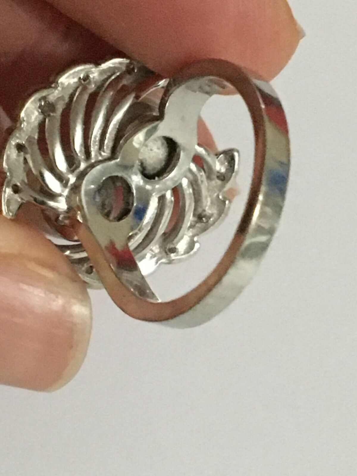 Vintage pearl and diamond Ring, Pearl and Diamond… - image 12