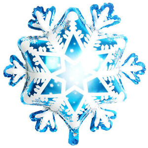 27-034-Christmas-Supplies-Foil-Balloons-Snowflake-Winter-Ballon-Ice-Snow-Kids-TPYW