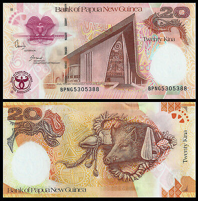 Commemorative Note UNC 20 Kina Papua New Guinea 2008