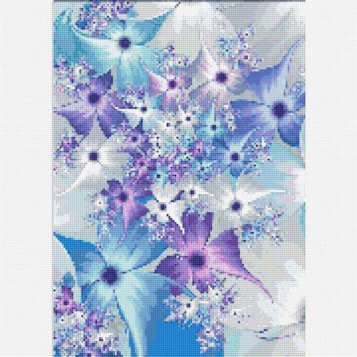 5D Full Drill Diamond Painting Blue Flower DIY Cross Stitch Kits Home Decor Gift