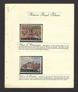GB Historical Royal Palaces 1953 Coronation poster stamps ex Jim Czyl