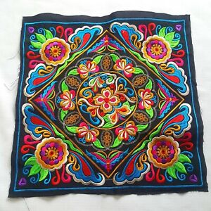 DIY Thai Hmong Embroidered Hill Tribe Pattern Textiles Fabric Birds Floral Style