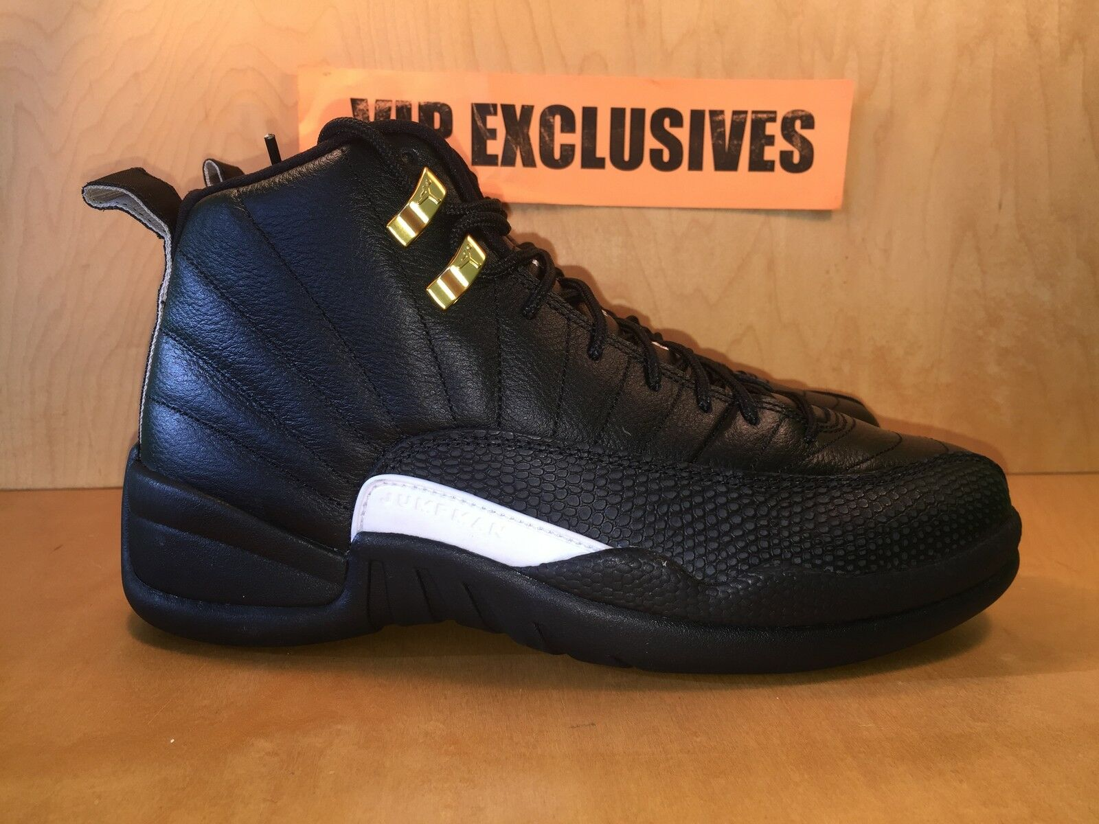 Nike Air Jordan XII Retro 12 The Master Black Rattan White Gold 130690-013 New shoes for men and women, limited time discount