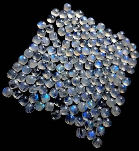 Great Natural Rainbow Moonstone 5x5 mm Cushion Cabochon Loose Gemstone SALE!