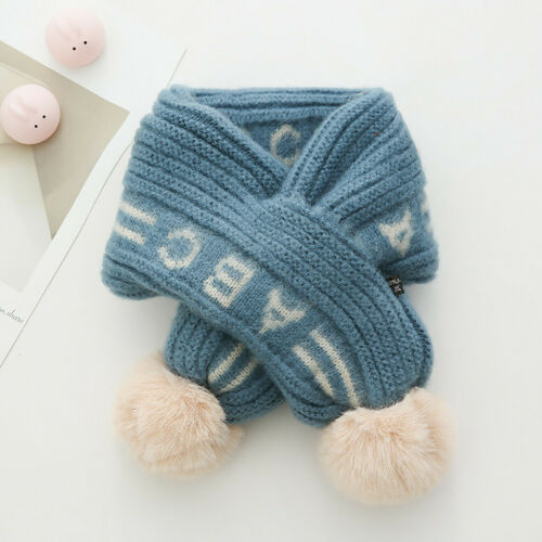 Kid Autumn Winter Boys Girls Baby Children Scarf Warm Knitted Stole Scarves Ring