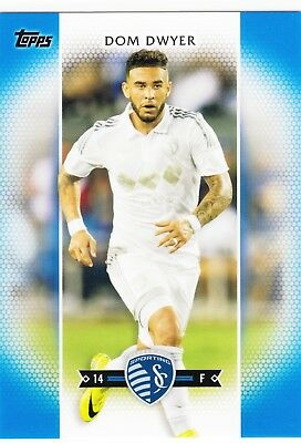 2017 Topps MLS Soccer Blue Parallel #103 Dom Dwyer SKC //99