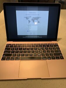 Apple-MacBook-Laptop-de-12-034-256GB-Oro-Rosa-LCD-danada-034-Core-M3