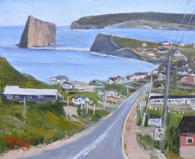 Gaspe Coast Perce Rock, 8x10,oil, Darlene Young Canadian Artist