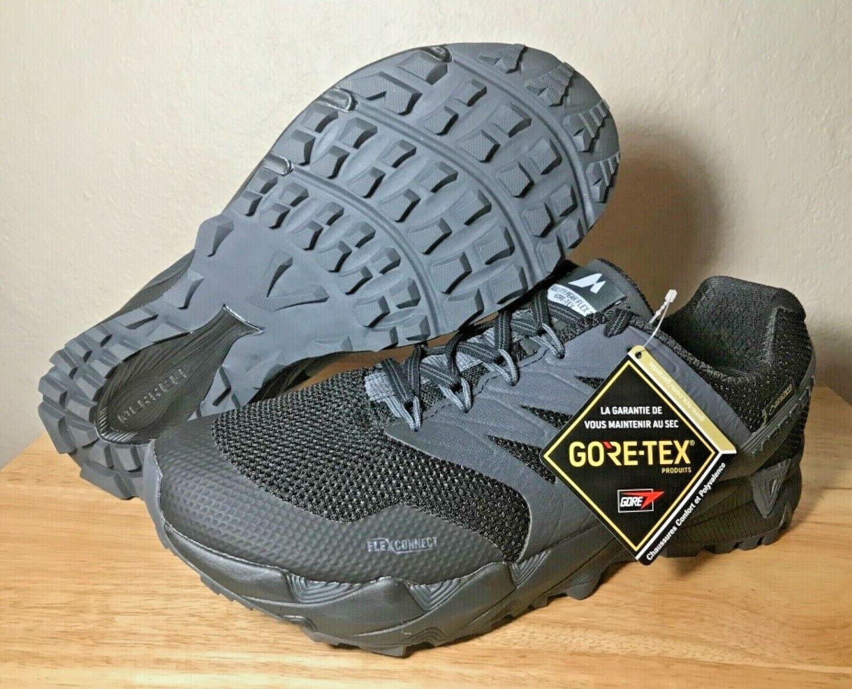 Merrell Agility Peak Flex 2 GORE-TEX Mens Trail Runner shoes SZ 10 Black J98255