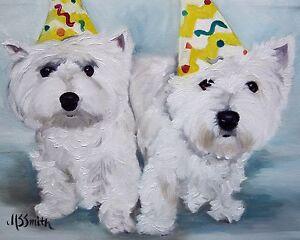 Mary Sparrow Westie West Highland Terrier Cachorro Perro De Pintura ...