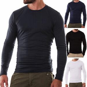 Maglia-uomo-maglietta-girocollo-maniche-lunghe-sottogiacca-felpata-TOOCOOL-F3235