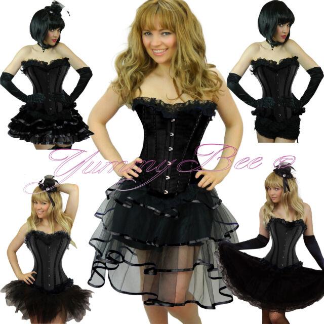 Burlesque Corset Tutu Skirt Fancy Dress Costume Plus Size Outfit