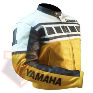 YAMAHA-6728-YELLOW-MOTORCYCLE-MOTORBIKE-BIKERS-COWHIDE-LEATHER-ARMOURED-JACKET