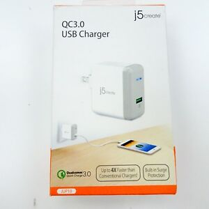 USB-Charger-for-iPhone-Charge-AC-Power-Adapter-Gray-white-j5create