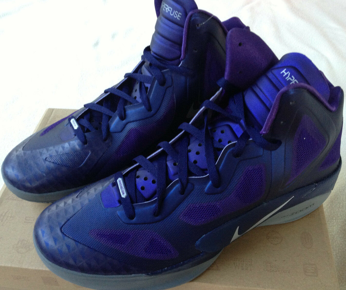 Nuove da nike air zoom hyperfuse 469757-500 viola gray scarpe da Nuove basket nba uomini '13 4cad50