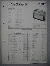 Philips L5D32T Annette 532 Kofferradio Service  Manual Ausgabe 02/63