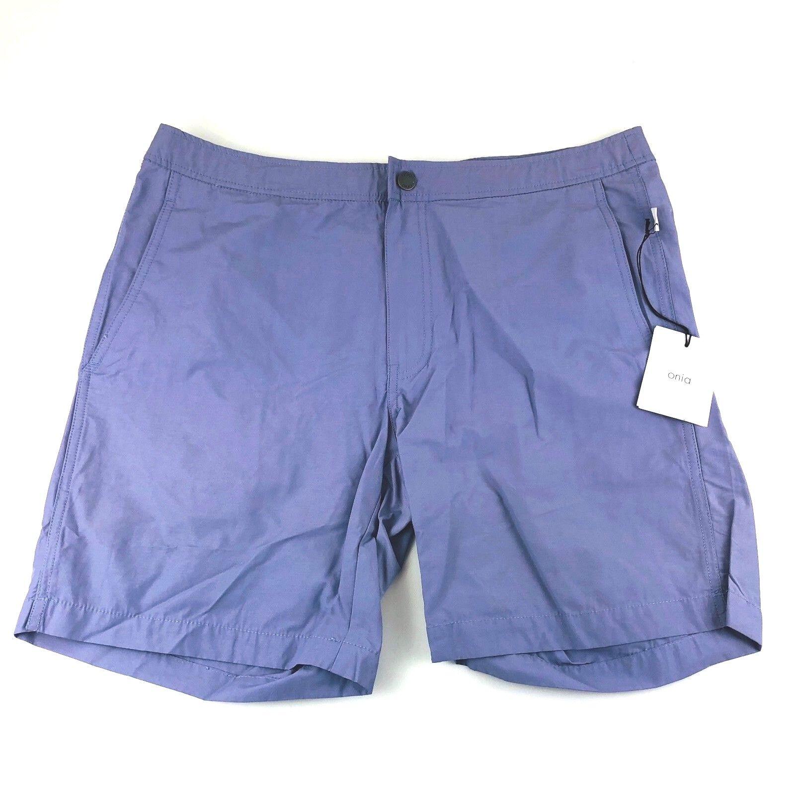 Onia Hyac Calder Lavender Swim Trunks 7.5 Shorts Mens Size 34 38 NWT