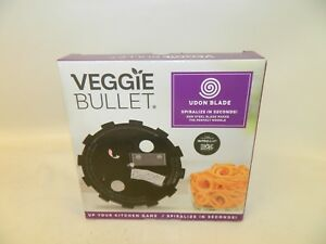 NIB-Veggie-Bullet-Udon-Blade-5mm-Spiralize-Food-Processor-Blender-Nutribullet